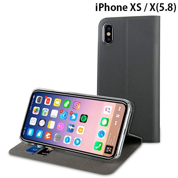 muvit iPhone XS / X EDITION PP FOLIO STAND GRAPHIC BLACK