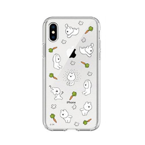 DK iPhone XS / X すこぶる動くウサギ TJ-003