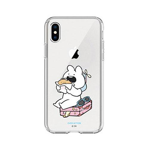 DESIGN CASE iPhone XS / X すこぶる動くウサギ TJ-006