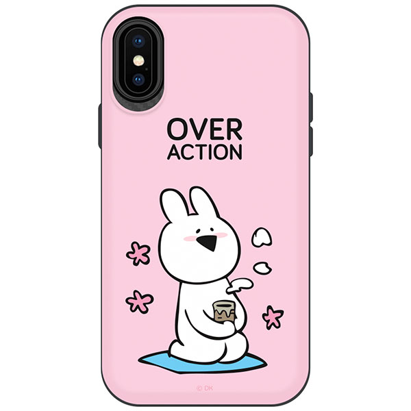 DESIGN CASE iPhone XS / X すこぶる動くウサギ TH-010