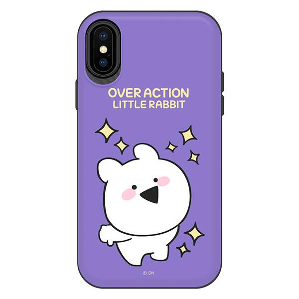 DESIGN CASE iPhone XS / X すこぶる動くウサギ TH-012