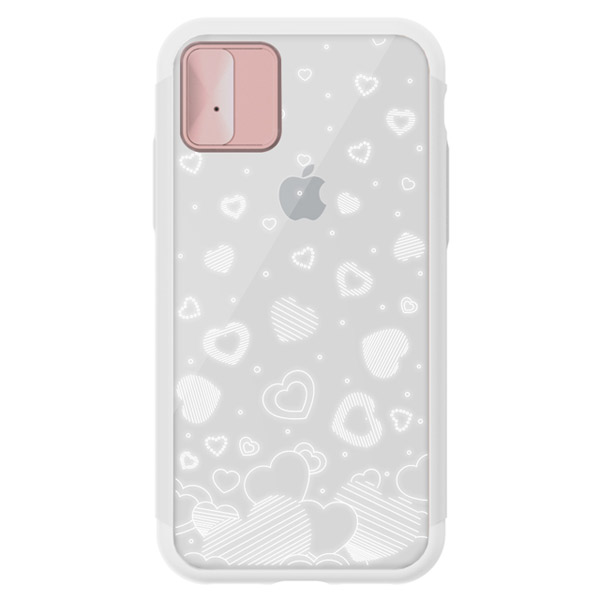 LIGHT UP CASE iPhone XS / X Lighting Shield Case Heart ローズゴールド