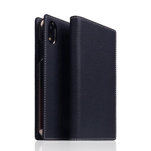 SLG Design iPhone XR Full Grain Leather Case Black Blue