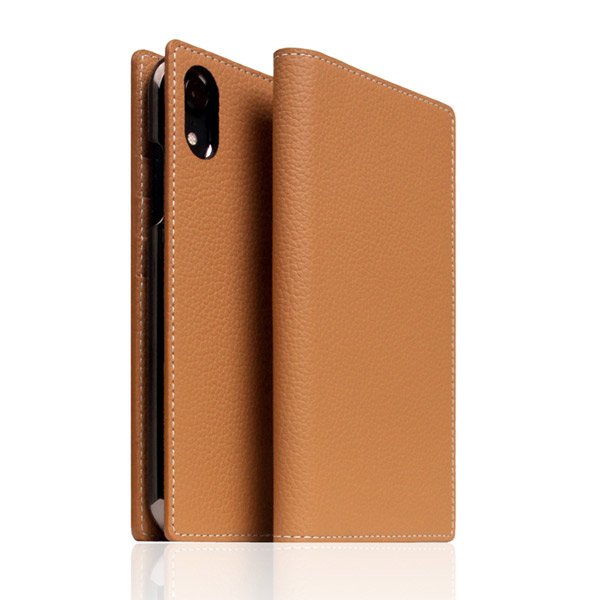 SLG Design iPhone XR Full Grain Leather Case Caramel Cream