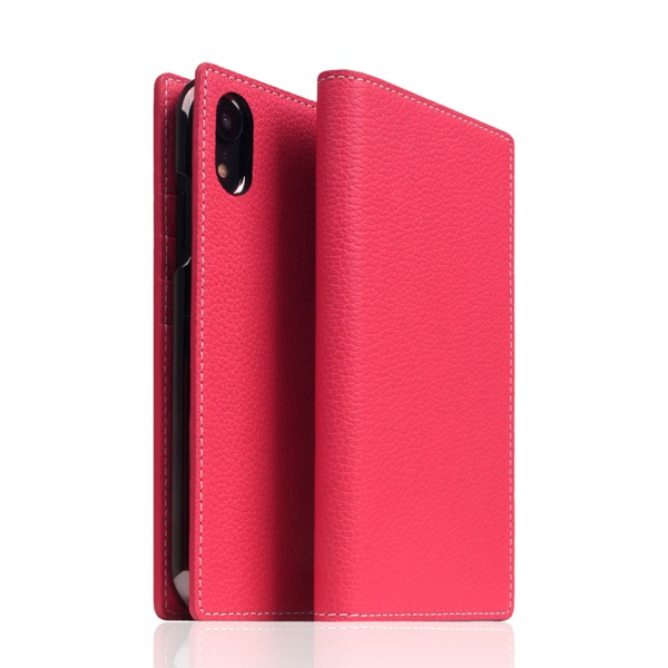 SLG Design iPhone XR Full Grain Leather Case Pink Rose