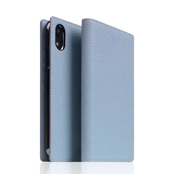 SLG Design iPhone XR Full Grain Leather Case Powder Blue
