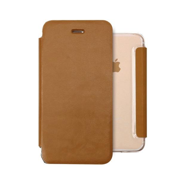 ZENUS iPhone XR Classic Clear Flip ブラウン