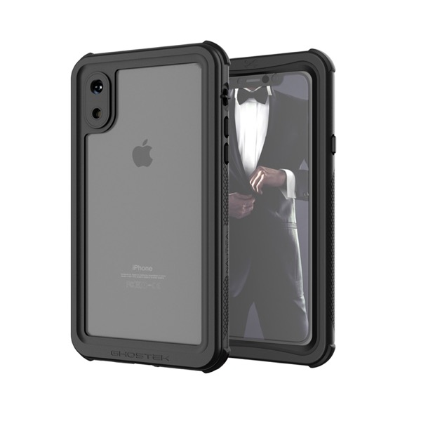 GHOSTEK iPhone XS Nautical Black IP68防水防塵タフネスケース