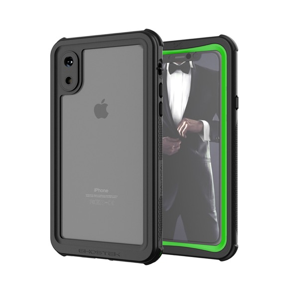 GHOSTEK iPhone XS Nautical Green IP68防水防塵タフネスケース