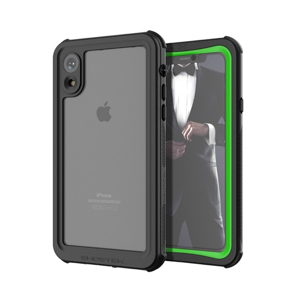 GHOSTEK iPhone XR Nautical Green IP68防水防塵タフネスケース
