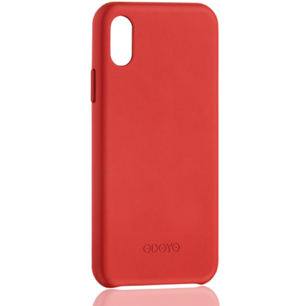 ODOYO iPhone XS Snap Edge Burgundy Red