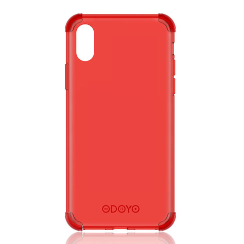 ODOYO iPhone XS Max Soft Edge Burgundy Red