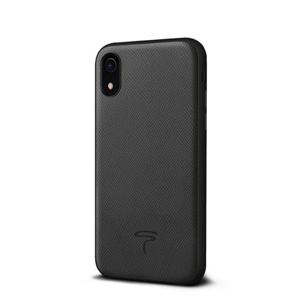Toria Design iPhone XR Epsom 牛本革 背面ケース Grey