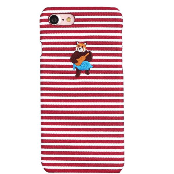 DESIGNSKIN iPhone SE 第2世代 / 8 / 7 WETHERBY BARTYPE BEAR 刺繍入り ボーダー 背面ケース アロハ