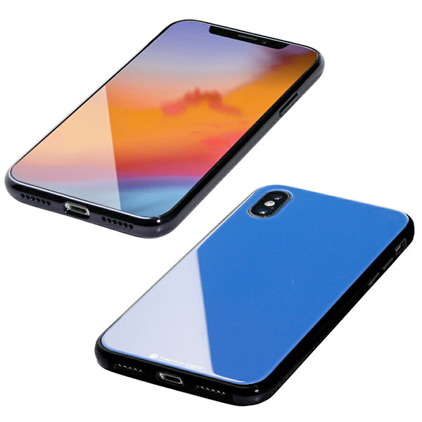 Deff iPhone XS / X Hybrid Case Etanze サーフブルー