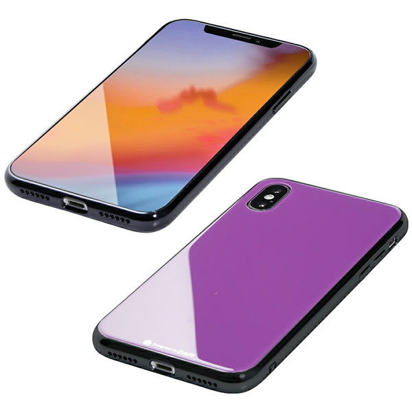 Deff iPhone XS / X Hybrid Case Etanze パープル