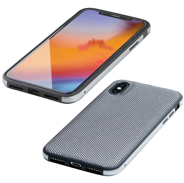 Deff iPhone XS / X Hybrid Case Etanze ナイロンシルバー