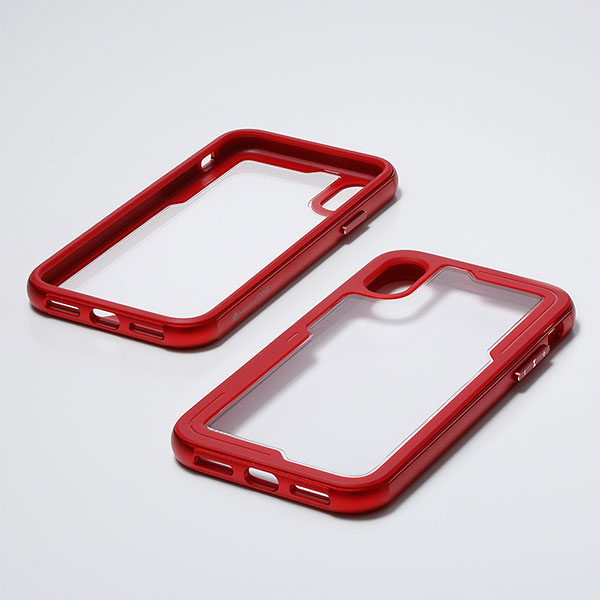 Deff iPhone XR 耐衝撃 TOUGH BUMPER Case レッド