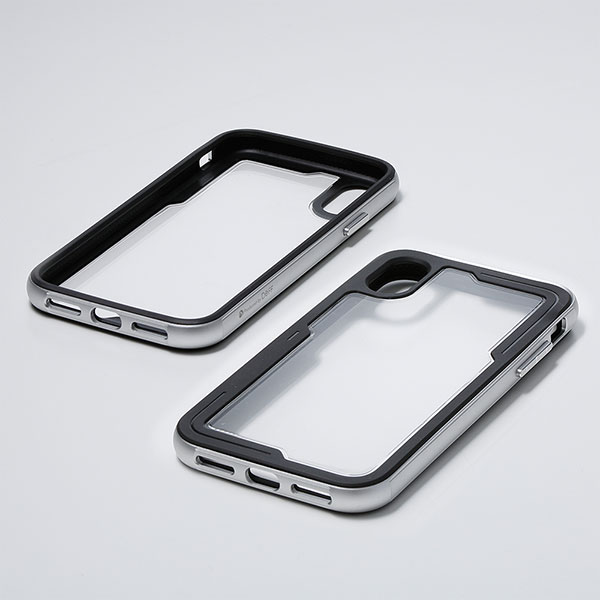 Deff iPhone XR 耐衝撃 TOUGH BUMPER Case シルバー