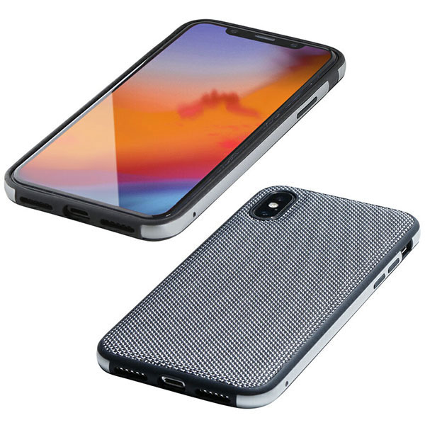 Deff iPhone XS Max Hybrid Case Etanze ナイロンシルバー