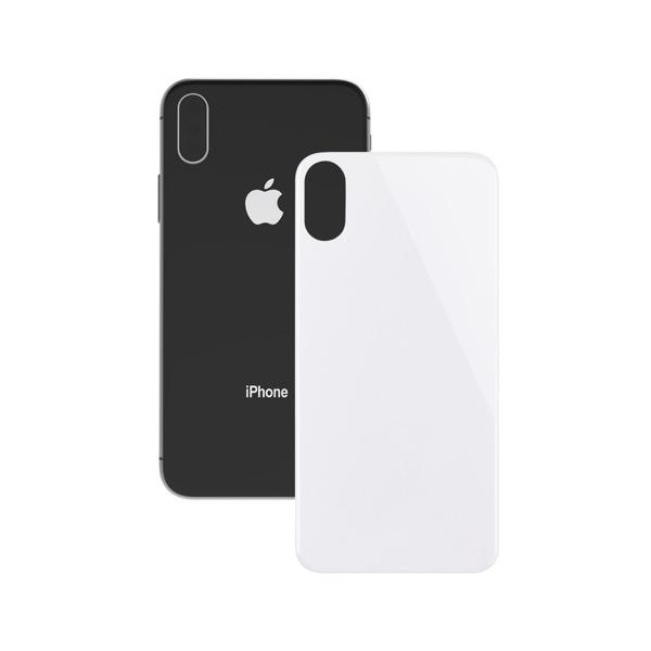 Simplism iPhone XS / X 背面保護立体成型パネル ホワイト
