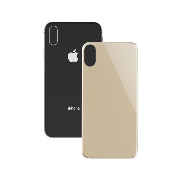 Simplism iPhone XS / X 背面保護立体成型パネル ゴールド