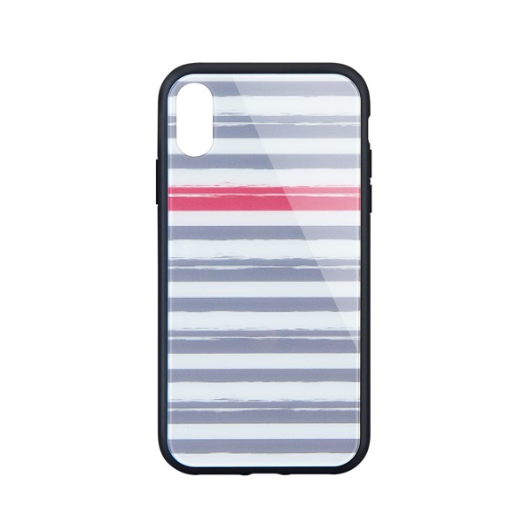Simplism iPhone XS / X [GLASSICA] 背面ガラスケース(Pattern) ボーダー