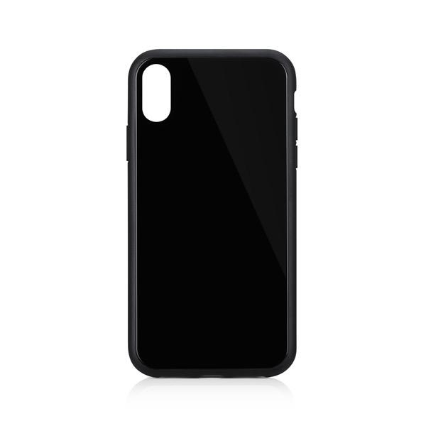 Simplism iPhone XR [GLASSICA] 背面ガラスケース(Solid color) ブラック