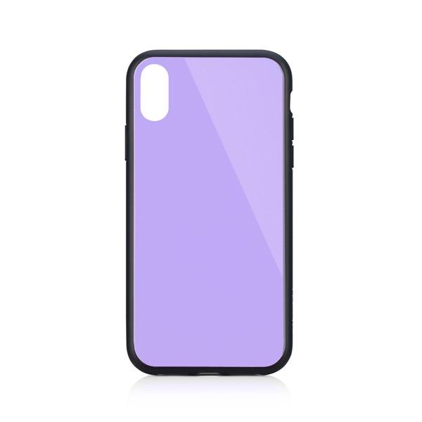 Simplism iPhone XR [GLASSICA] 背面ガラスケース(Solid color) パープル