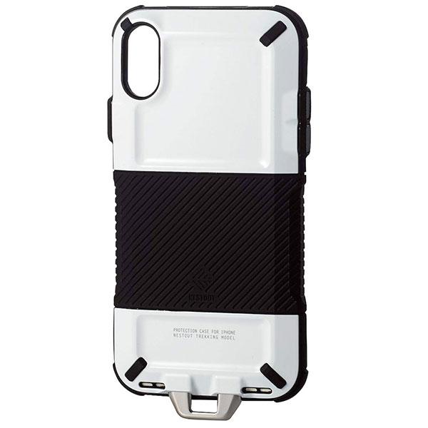 エレコム iPhone XR ハイブリッドケース ネストアウト トレッキング ホワイト