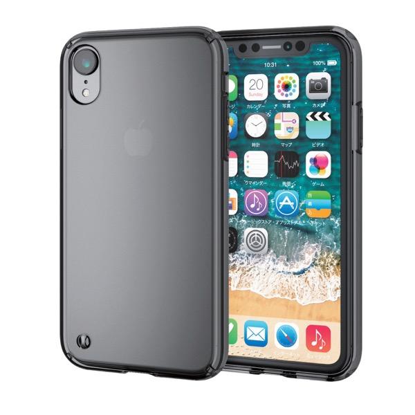 エレコム iPhone XR ハイブリッドケース ブラック