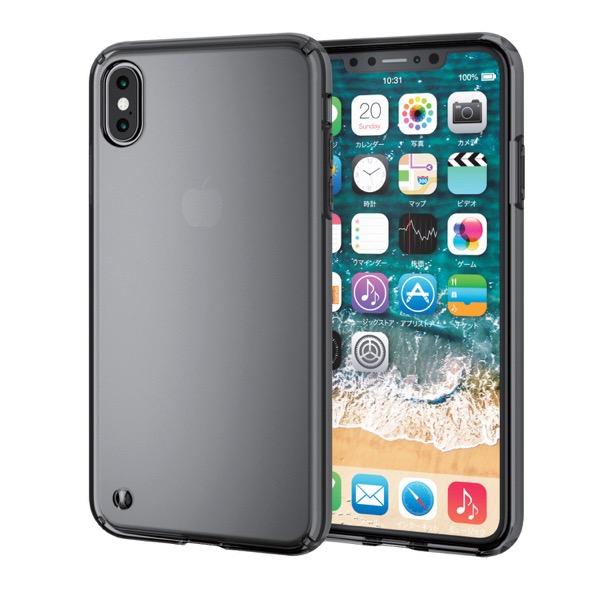 エレコム iPhone XS Max ハイブリッドケース ブラック