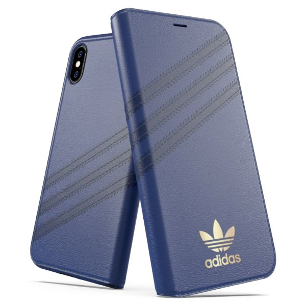 adidas iPhone XS / X OR-Booklet Case SAMBA Blue