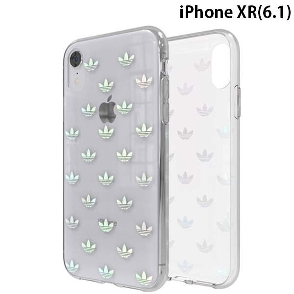 adidas iPhone XR OR-Clear Case Trefoils colorful logo