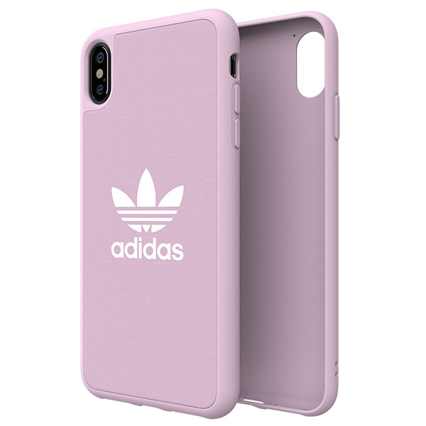 adidas iPhone XS Max OR-Adicolor-Moulded Case Clear Pink