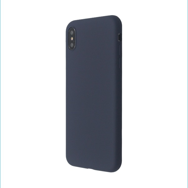JM iPhone XS / X EXTRA SLIM SILICONE CASE Midnight Blue