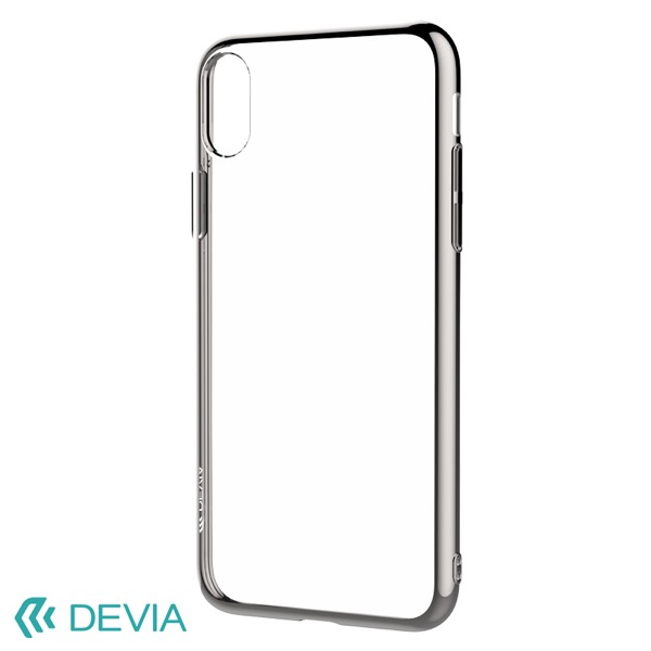 Devia iPhone XS / X Glitter soft case(TPU) Silver