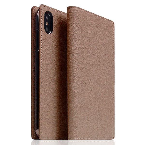 SLG Design iPhone XS Max D5 Full Grain Leather Case etoff Cream