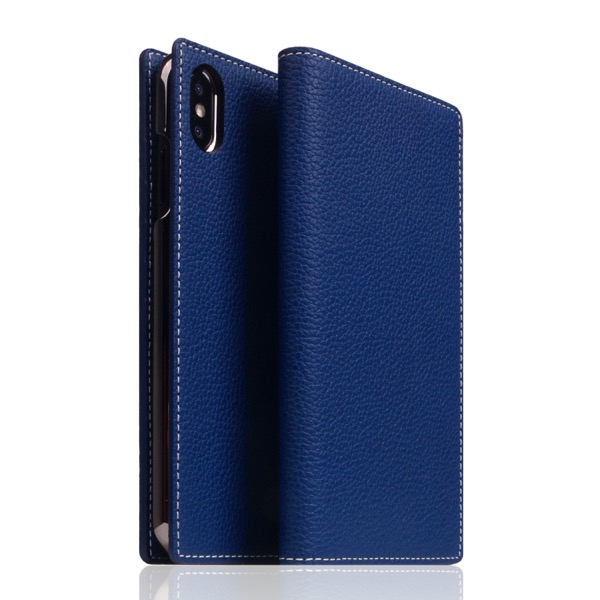 SLG Design iPhone XS Max D5 Full Grain Leather Case Navy Blue