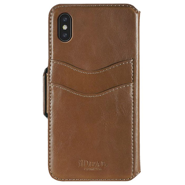 IDEAL OF SWEDEN iPhone XS Max LONDON WALLET BROWN