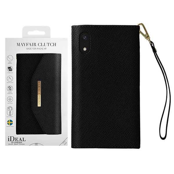 IDEAL OF SWEDEN iPhone XR MAYFAIR CLUTCH BLACK