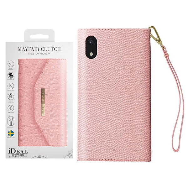 IDEAL OF SWEDEN iPhone XR MAYFAIR CLUTCH PINK