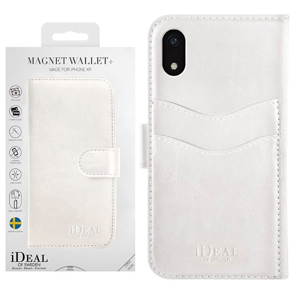 IDEAL OF SWEDEN iPhone XR MAGNET WALLET WHITE