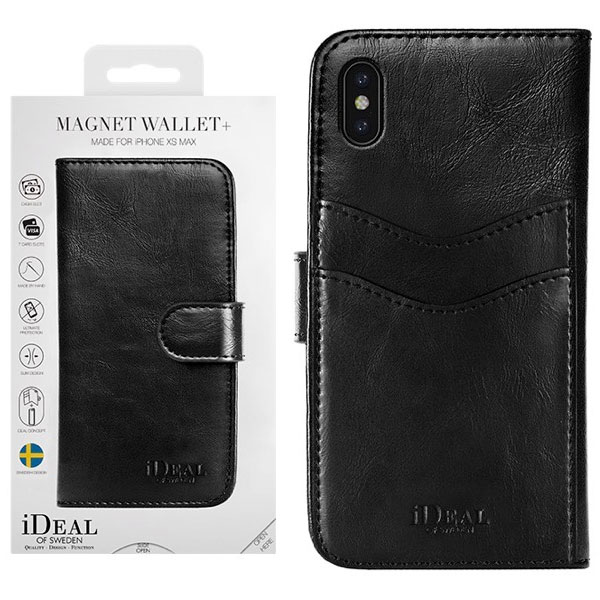IDEAL OF SWEDEN iPhone XS Max MAGNET WALLET BLACK