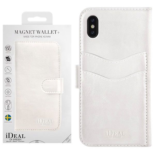 IDEAL OF SWEDEN iPhone XS Max MAGNET WALLET WHITE