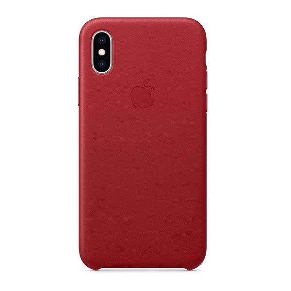 Apple iPhone XS レザーケース - (PRODUCT)RED