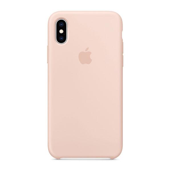 Apple iPhoneXS シリコーンケース - ピンクサンド
