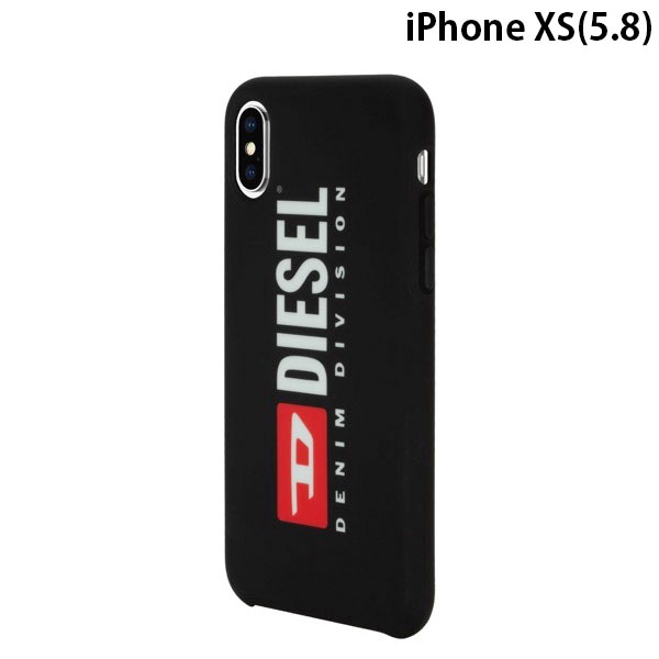Diesel iPhone XS Printed Co-Mold Case Soft Touch Seasonal Logo Black
