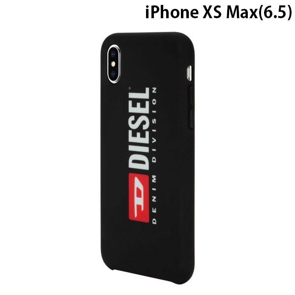 Diesel iPhone XS Max Printed Co-Mold Case Soft Touch Seasonal Logo Black