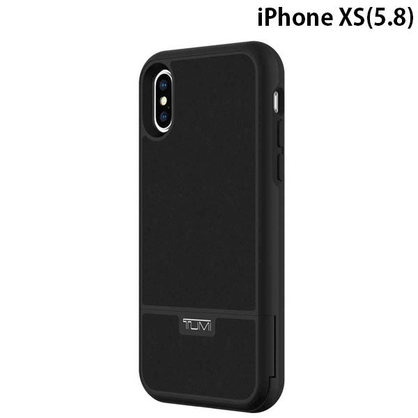 TUMI iPhone XS Kickstand Card Case for Moana - Black Leather